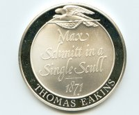 Medal USA Thomas Eakins Max Schmitt in a Single Scull 1871 reverse Sterling Silver