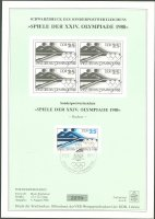 stamp gdr 1988 aug. 9th og seoul mi 3186 stylized 2 black print