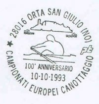 pm ita 1993 oct.10th orta san giulio 100th anniversary of the first erc stylized rower