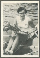 cc ger 1955 ok kaugummi bubble gum sportmeisterschaften 1954 no. 78 b ingrid scholz duisburger rv german w1x champion
