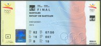 ticket esp 1992 og barcelona final