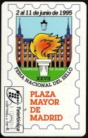 TC ESP 1995 Telefonica 0595 XXVII Feria National del Sello Picture of Stamp ESP 2nd June 1995 reverse