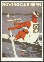 pc sui 1986 reprint of poster sui 1925 rowing club bern july 18th