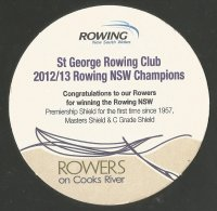 Beer mat AUS St. George RC New South Wales champions