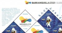 Stamp COL 2018 MS The 23rd Central American and Caribean Sports Games Barranquilla detail