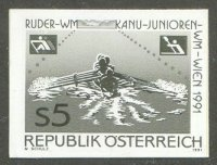 stamp aut 1991 aug. 20th wrc vienna mi 2036 4x black print