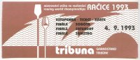 ticket cze 1993 wrc roudnice finals sept. 4th