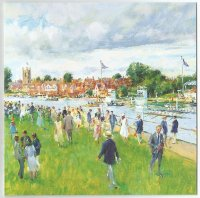 painting gbr henley royal regatta by john alford born 1929