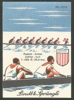 CC SUI 1936 LINDT SPRUENGLI No. 2178 OG Berlin M8 gold medal for USA