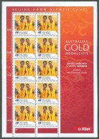 stamp aus 2008 aug. 18th mi 3058 i ms og beijing gold medal winners david crawshay scott brennan m2x pair printed in china