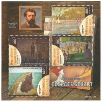 Stamp TOG 2019 SS Seurat paintings