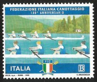 Stamp ITA 2018 130th anniversary of Italian Rowing Federation