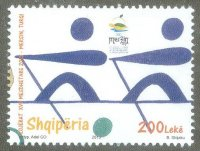 stamp alb 2013 mediterranean games at mersin tur