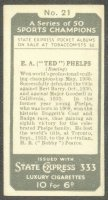 cc gbr 1935 ardath tobacco state express 333 sport champions no. 21 e. a. ted phelps - reverse