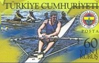 stamp tur 2007 may 3rd fenerbahce sport club istanbul 100th anniversary mi 3578 single sculler and club emblem