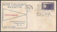 Cover USA 1939 with cachet Inter Collegiate Regatta Poughkeepsie