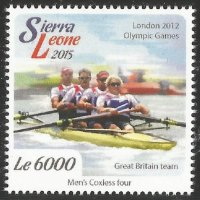 Stamp SLE 2015 OG London GBR M4 gold medal winner crew