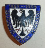 badge ger 1933 german rowing federation 50th anniversary