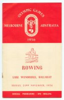 program aus 1956 og melbourne nov. 23rd lake wendouree ballarat