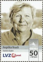 stamp ger 2014 sept. 22nd lvz post angelika noack sc dhfk leipzig olympic and world champion now coach
