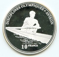 Coin COD 2000 Olympic Sports Silver 999 PP 2000 g 10 Francs Sweep oar rower