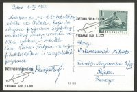PC YUG 1966 WRC Bled with stamp special postmark Sept. 8th on back reverse