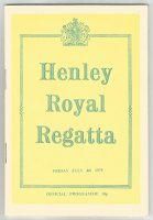 Program GBR 1975 July 4th Henley Royal Regatta