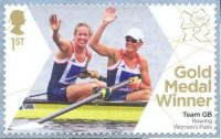 stamp gbr 2012 aug. 2nd og london w2 gold medal winners helen glover heather stanning gbr