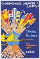 poster fra 1967 erc vichy sept. 1st 10th copy from book schlag auf schlag ger 1998