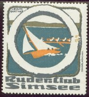 cinderella ger ruder club simsee sailing boat a four in round life belt