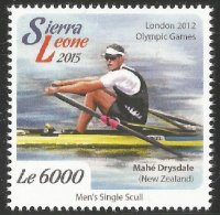 Stamp SLE 2015 OG London Mahé Drysdale NZL M1X gold medal winner