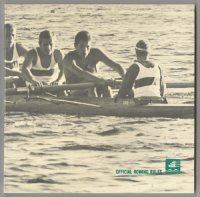 Book MEX 1968 OG Mexico Official Rowing Rules FISA with Olympic pictogram No. 2 on cover