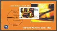 stamp ger 1998 febr. 5th wrc cologne mi 1970 booklet deutsche sporthilfe philex smh no.28