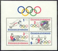 stamp tch 1984 sept. 9th ss the olympic idea mi bl. 60 with mi 2784