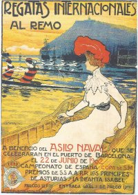 Poster ESP 1902 Spanish national championships and international regatta at Barcelona