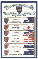 PC GBR Oxford Unuversity Colleges oar blade colours flags and arms I