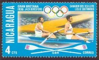 stamp nca 1976 july og montreal mi 1951 gbr 2x beresford southwood olympic champions berlin 1936