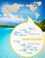 Map Penrhyn Northern Cook Islands