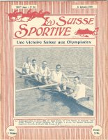 Magazine cover La Suisse Sportive No. 761 Sept. 11th 1920 Swiss M4 Olympic victory at OG Antwerp
