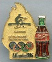 pin ger 1996 og atlanta coca cola