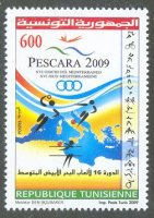 stamp tun 2009 june 26th mi 1724 mediterranean games pescara pictogram at right margin