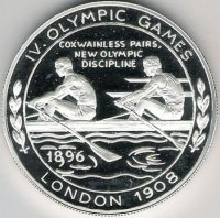 medal og london 1908 coxless pairs new olympic dicipline