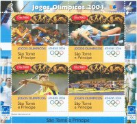 stamp stp 2004 og athens ms sprint high jump javelin rowing