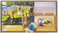 stamp gui 2009 ss paintings of g. seurat ile de grande jatte