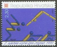 stamp cro 1999 aug. 7th mi 516 world military games pictogram
