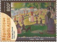 Stamp TOG 2019 A Sunday afternoon on the isle de la Grande Jatte by Georges Seurat