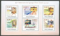 stamp moz 2009 ss 150th anniversary of g. p. seurat 1859 1891