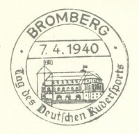 pm ger 1940 apr. 7th bromberg tag des deutschen rudersports drawing of boathouse rc frithjof