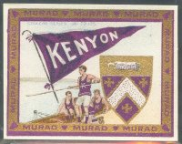 cc usa 1910 murad cigarettes college series 101 125 kenyon college