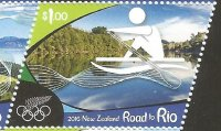 Stamp NZL 2016 July 6th Road to Rio